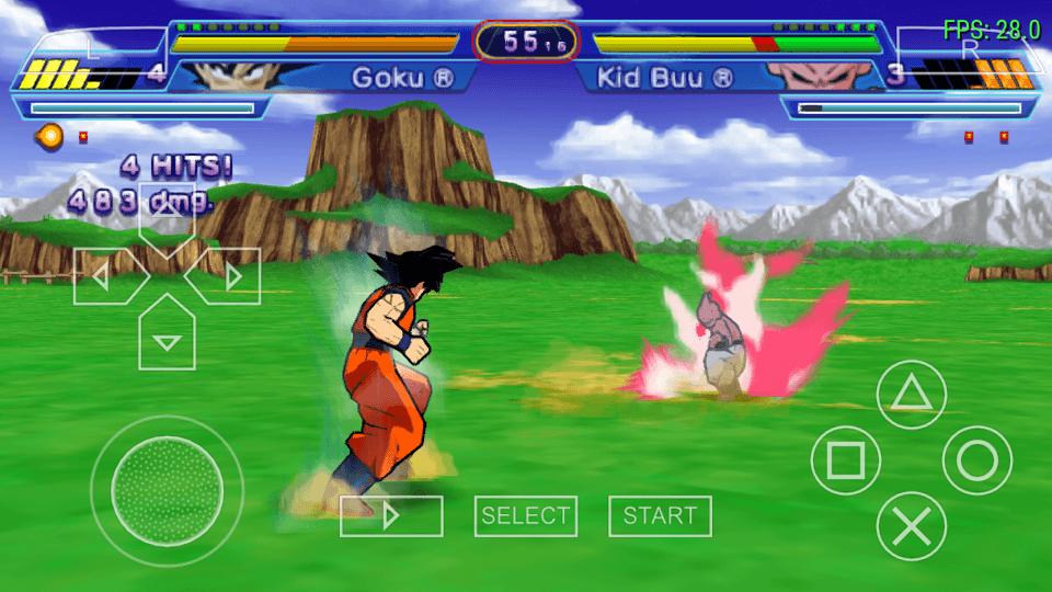 Dragon Ball Z Shin Budokai goku vs majin buu