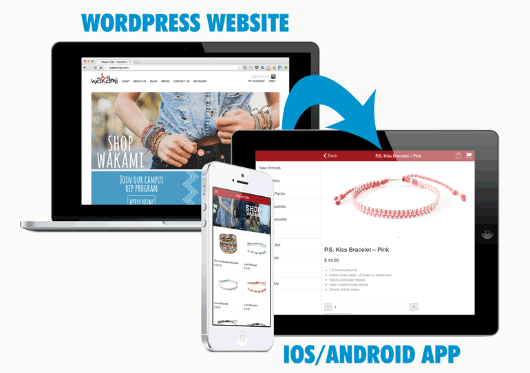 convert wordpress site into mobile app