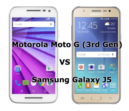 Motorola Moto G (3rd Gen) VS Samsung Galaxy J5