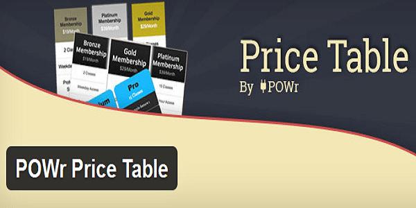POWr Price Table