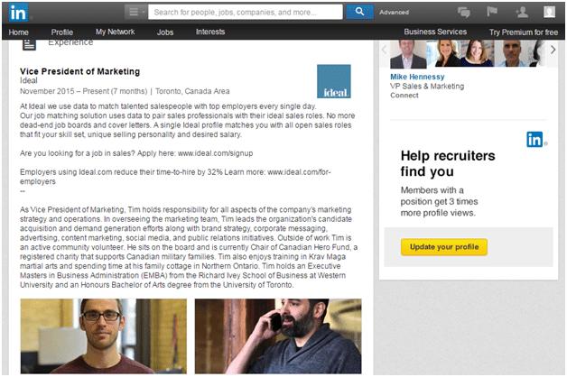 LinkedIn Experiences